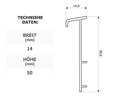 2,5m TEPPICHLEISTEN 50mm KIEFER Kettelleisten aus Kunststoff Fussbodenleiste Laminat Dekore Parkett Scheuerleiste von DQ-PP auf TapetenShop