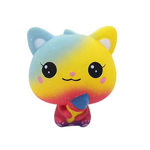 Auied Lernspielzeug Eiscreme-Katzenfrucht-Duftendes Langsam Steigendes Pressungs-Druck-Entlastungs-Spielzeug Sammeln Geschenk Dekompressionsspielzeug