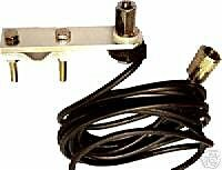 Flat bar mirror mount, cable and PL259 for CB Radio Antennas by Rocket Radio