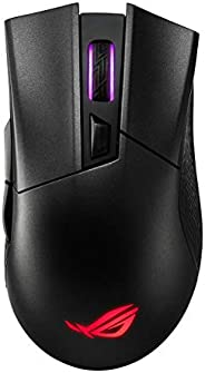 ASUS 90MP00Z0-B0UA00 Asus ROG Gladius II Wireless ergonomic RGB optical gaming mouse with dual wireless connec