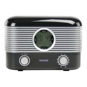 Radio réveil LCD AM/FM Désign Rétro