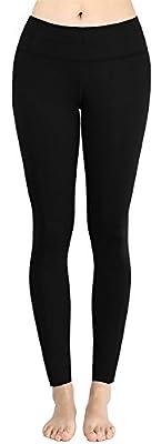 deeptwist Damen Yoga Hosen Sport Leggings Hohe Taille Workout Fitness Yogahose Schlank Schwarz