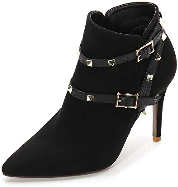 Donna A Stiletto Stivaletti Rivetto Rivetto Rivetto Platform Fibbia High Heels,MWOOOK-221 Inverno Autunno Moda Plateau Punk E... | Caratteristico  4440fa