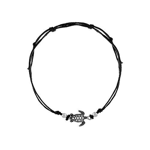 Simsly, JL-056 Fußkettchen/Armband, Accessoire mit Meeresschildkröte, Schmuck für Damen und Mädchen
