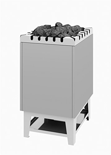 Saunaofen-Standmodell Typ 44 - 10 kW Edelstahlmantel