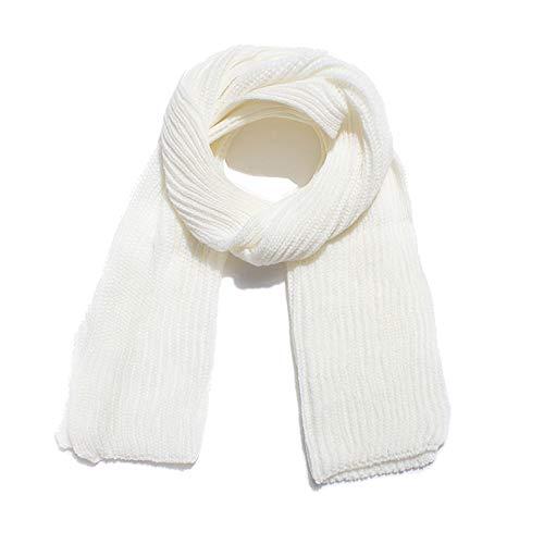Tukistore sciarpa in lana da uomo e donna, sciarpa di lana lavorata a maglia tinta unita sciarpa di inverno scialle a doppio uso per l'autunno e l'inverno