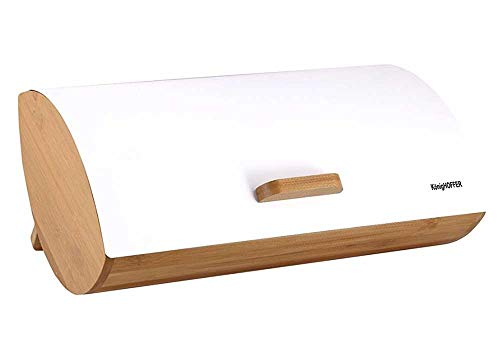 Konighoffer Brotbox Brotkasten Brotkiste Holz Edelstahl Brotkorb COSMICO weiß