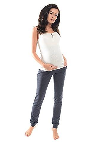 Purpless Maternity Damen Umstands Uber Bump Hose Jogger 1307 (36, Navy Melange)