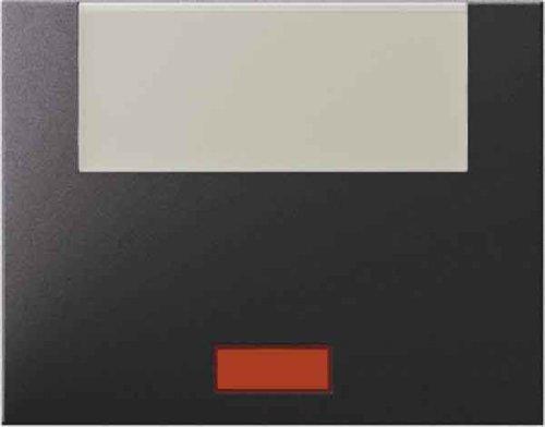 Hager K1-Taste mit Objektiv Porta Rotulo groß anthrazit - Beleuchtung-kreuz-jalousie-objektiv