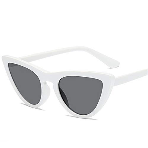 MOJINGYAN Sonnenbrillen,Retro Cat's Eye Männer Frauen Sonnenbrille Catseye Style Sun Slasses Damen Brillen Uv400 Brillen Weiß