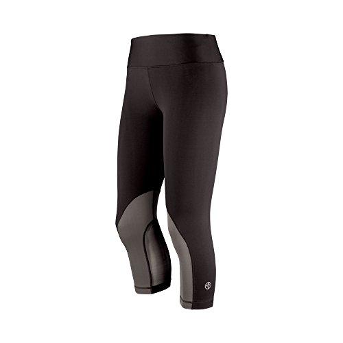 Zumba Fitness Mesh with Me Perfect Pantacourt Leggings de sport Femme Surfs Up Sew Black