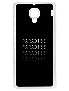 Xiaomi RedMi 1S Back Cover Printed Designer Case - - This Is My Paradise - Quote - Hard Case With Transparent Edges