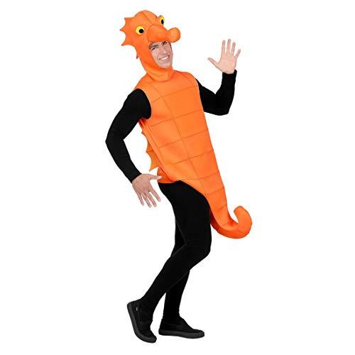 Widmann-wdm75773 vd-costume cavalluccio marino per adulto unisex, arancio, m/l l, wdm75773