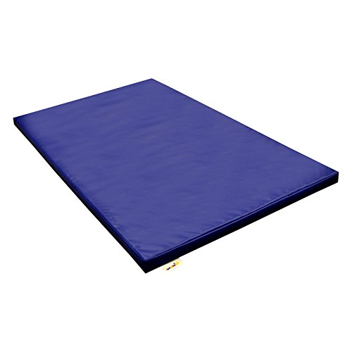 Implay® Soft Play Gym Mat - Crash Mat - Exercise Mat - 610gsm PVC / High Density Foam - Blue - Green - Pink - Red - Yellow - 150cm x 90cm x 5cm (Blue)