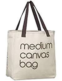 Imagin Canvas Get Best Quotelogo Printed Carry Bag (White & Brown)