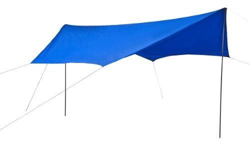 L.A. Garden Sonnensegel blau Sonnenschutz UV-Schutz 60 wasserdicht bis 2.000 mm Maße 430 x 350 x...