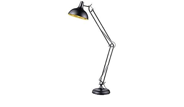 Ausgefallene RETRO LED Stehlampe Standleuchte mit Gelenkarm Schlafzimmerlampe