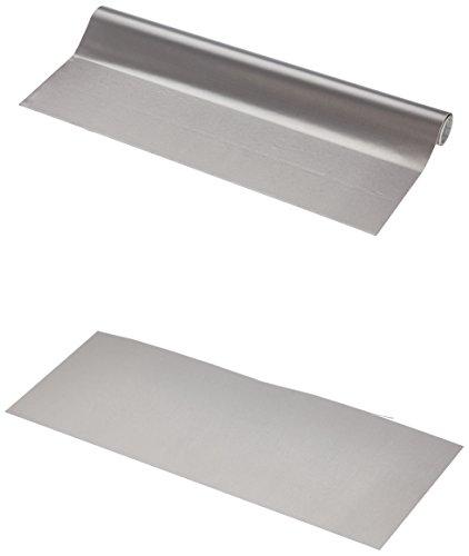 Fablon Rouleau de Plastique Auto-adhésif Effet Acier Inoxydable 45 cm x 1,5 m