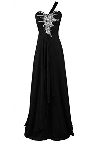 Sunvary Charming Sweetheart uno Strap vestito da damigella d'onore abito da sera lungo Pageant Black