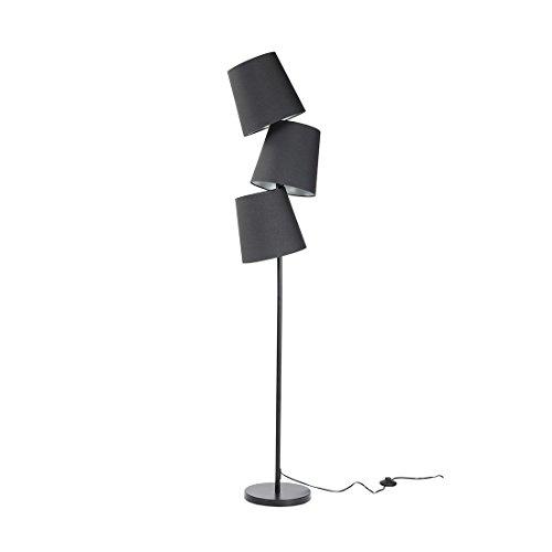 Beliani Stehlampe schwarz - Standlampe - Leselampe - Stehleuchte - Standleuchte - Rio Grande -
