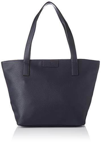 TOM TAILOR Damen Taschen & Geldbörsen Shopper Miri dark blue cognac,OneSize