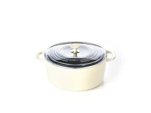 Kitchen Stories SimmerPro - Casseruola con coperchio in vetro temperato