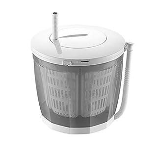 Mini Washing Machine Hand Cranked Washer Manual Dehydrator Camping Small Simple Plastic Washing Machine In Dormitory Single Tub Washing Counter Portable Washer 3kg/6.6lbs