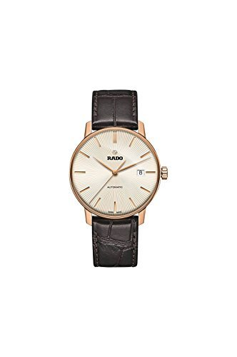 Rado Men's Swiss Automatic Coupole Classic Dark Brown Leather Strap Watch 38mm R22861115 by Rado