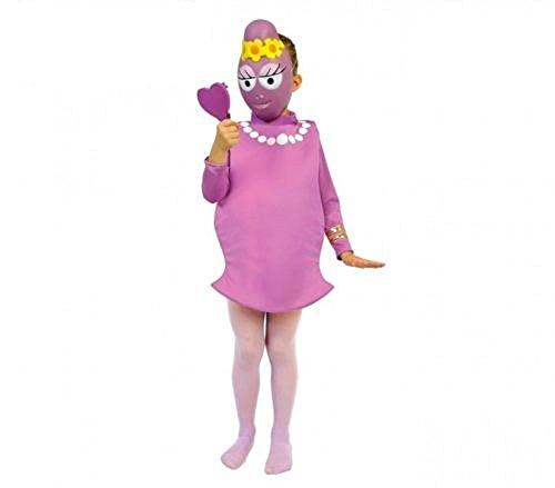 Fair vestito di carnevale bimba travestimento barbarella di barbapapa shoponline (3-5 anni)