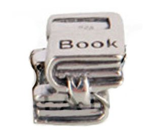 """libro""-Charm in argento Sterling 925"