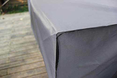 Laxllent funda para mesa de jard n impermeable al v 600d for Fundas para mesas de jardin