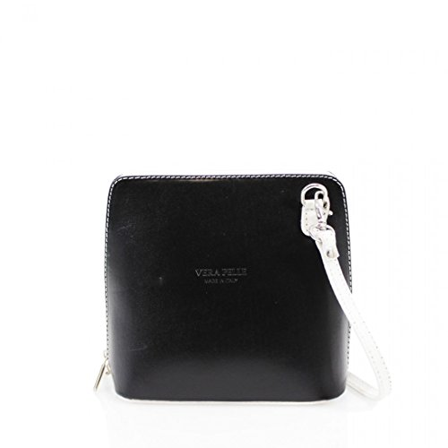 Vera Pelle, Borsa a tracolla donna Black with white