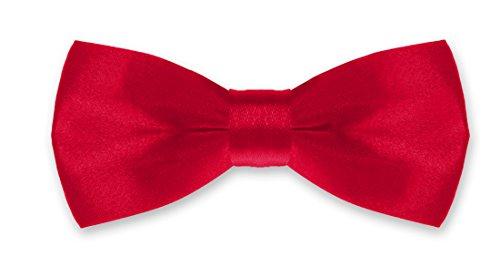 Autiga® Fliege Kinder Kinderfliege Hochzeit Konfirmation Schleife Schlips verstellbar Anzug Smoking rot (Smoking Socks)