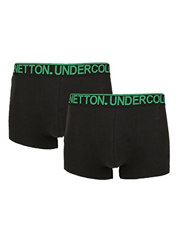 United Colors Of Benetton Men's Cotton Trunk- Assorted*- (pack Of 2) 228di Color Dispatch Random*