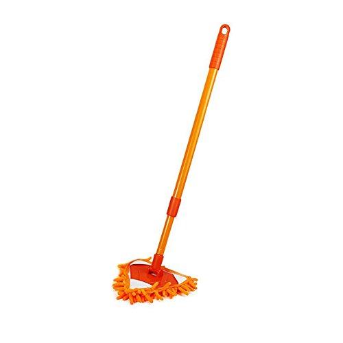 hinmay Triangle Mini Staub Mop, Multifunktions Mikrofaser-Pads Spray Wasser Sprühen Wohnung Staub Mop, Home Reinigung Werkzeug, Orange, Free Size