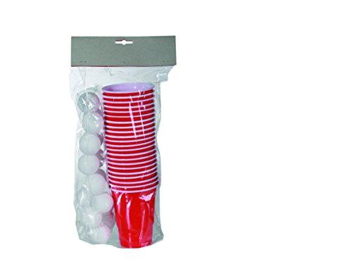 Preisvergleich Produktbild Out of the blue 79/3936 - Trinkspiel, Beer Pong, 15 Bällen und 22 Trinkbechern für, circa 550 ml im Polybeutel mit Headercard