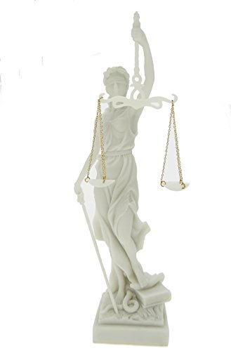 k.A Edle Justitia Figur weiss Skulptur BGB römische Götter