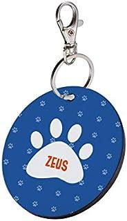 Sky Trends Round Shape Collar Locket/Pendant for Dogs & Puppy -898, Multicolour, Medium, 1 Count -