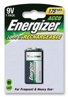 Energizer 626177Akku, einzelne Zelle, Nickel Metall Hydrid, 175mAh, 9V, PP3,