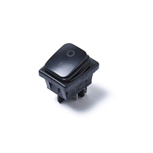 WINOMO Interrupteur à Bouton-Poussoir imperméable Noir de commutateur de basculeur de Voiture de 12V avec la lumière Verte