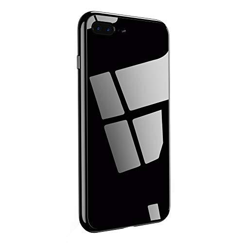 Caler kompatibel mit iPhone 8 Plus / 7 Plus Hülle + gehärtetes Glas 360 Grad Caso exakte Slim Full Screen Protector, stoßfest, dünn Bumper Magnetic Case Handy Schutz