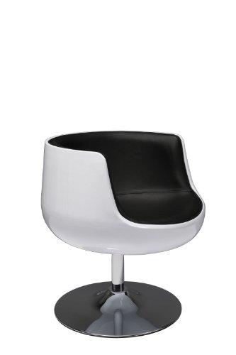 Kare Fauteuil Design Club 54 Noir/Blanc