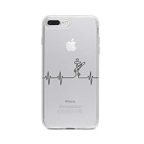 licaso Apple iPhone 8 Plus Handyhülle Smartphone Apple Case aus TPU mit Shisha Print Motiv Slim Design Transparent Cover Schutz Hülle Protector Soft Aufdruck Lustig Funny Druck