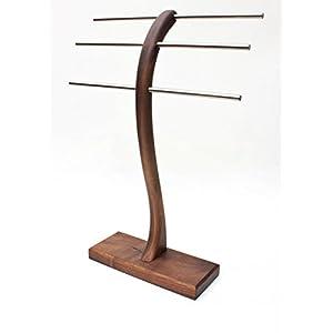Schmuckständer Schmuckhalter Schmuckbaum Schmuckbäumchen für Armband Ketten und Ringe aus massiv Nussbaum Holz. Made in Germany
