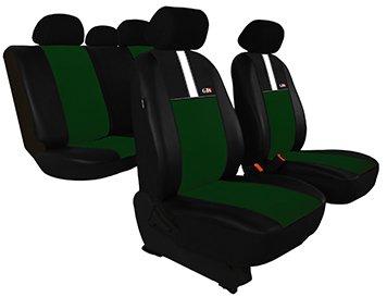 Housse de siège de voiture universelles GT8 (ECO-CUIR + ALKANTARA ) - pour KIA (Sephia - Picanto - Cerato - Opirus - Rio - Sorento - Carens - Carnival - Magentis - Shuma - Sportage) (Verte)