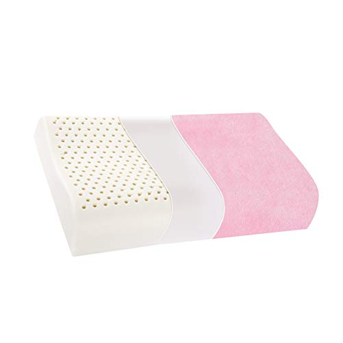 GODXMDD Baby Waschbar Kissen Memory Schaum,Super weich Kopfkissen Mit reißverschluss abnehmbar Easy Care Kind Nackenstützkissen-Rosa 30x40x6cm(12x16x2)
