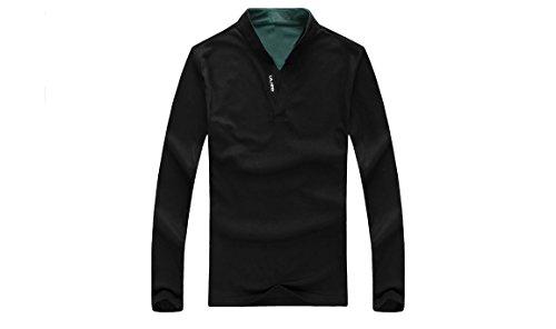 Langarm Shirt Herren Schwarz