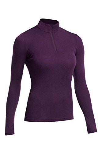 Icebreaker Damen Funktionsshirt Everyday LS Half Zip, Vino, M, 101303503 (Langarm-bluse Seidige)