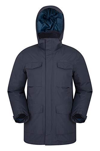 Mountain Warehouse Concord Extreme Herren Daunenjacke,wasserdichte,Gefütterte, Warme,Winterjacke, Regenjacke Blau XXX-Large
