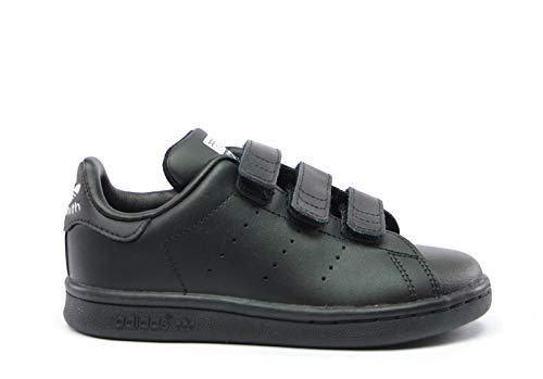 adidas Originals Unisex-Child Stan Smith CF C Schwarz Sneaker Low 30 -
